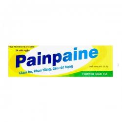 Tpbvsk giúp giảm ho và dau rát họng Painpaine , Tube 24 viên ( Lysopaine )