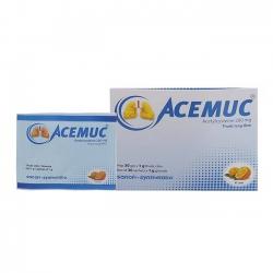 Thuốc ho long đờm Acemuc 200mg, Hộp 30 gói