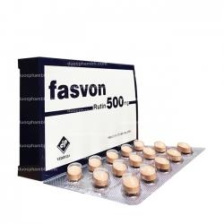 Thuốc hỗ trợ điều trị các triệu chứng xuất huyết FASVON 500 - Rutin 500mg