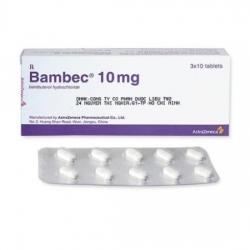 Thuốc hỗ trợ đường hô hấp Bambec   Hộp 3 vỉ x 10 viên
