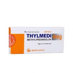 Thuốc Hocmon, Nội tiết tố Thylmedi 4 - Methylprednisolon 4mg, Hộp 3 vỉ × 10 viên