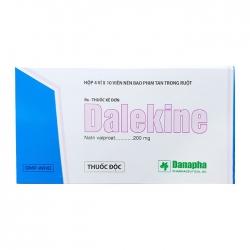 Thuốc hướng thần Danapha Dalekine 200 Hộp 40 viên