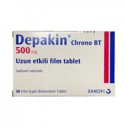 Thuốc hướng thần Depakine 500mg Chrono BT, Hộp 30 viên