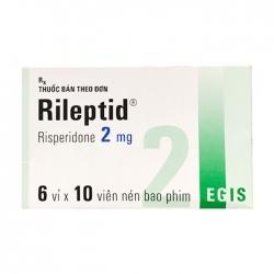 Thuốc hướng thần Egis Rileptid 2mg, Hộp 60 viên