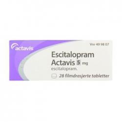Thuốc hướng thần Escitalopram Actavis 5mg