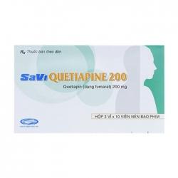 Thuốc hướng thần Savi Quetiapine 200mg, Hộp 30 viên