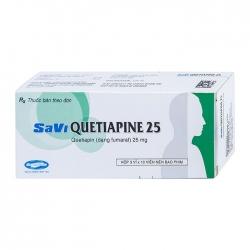 Thuốc hướng thần Savi Quetiapine 25mg, Hộp 30 viên