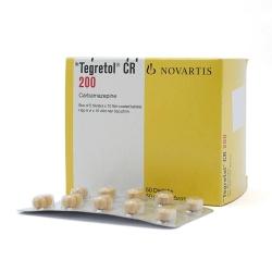 Thuốc hướng thần Tegretol 200mg - Carbamazepine 200mg, Hộp 5 vỉ x 10 viên