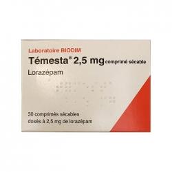 Thuốc hướng thần Temesta 2.5mg, Hộp 30 viên