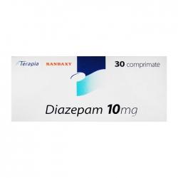 Thuốc hướng thần Terapia Ranbaxy Diazepam 10mg 30 viên