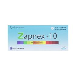 Thuốc hướng thần Zapnex-10 Olanzapin 10mg, Hộp 3 vỉ x 10 viên