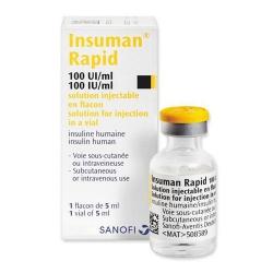 Thuốc Insuman Rapid 100IU/ml 5ml