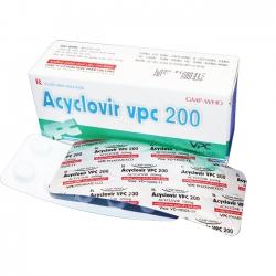 Acyclovir VPC 200mg, Hộp 50 viên