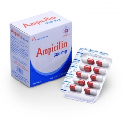 Thuốc kháng sinh DMC Ampicillin 500mg, Hộp 100 viên