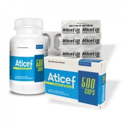 Thuốc kháng sinh Aticef 500 DHG, Cefadroxil 500mg, Hộp 14 viên