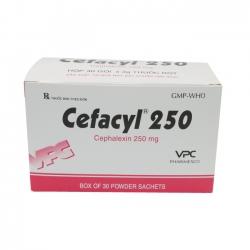 VPC Cefacyl 250, Hộp 30 gói
