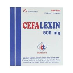 Thuốc kháng sinh DMC Cefalexin 500 mg, Hộp 100 viên