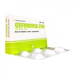 Thuốc kháng sinh CEFURIVID 250 - Cefuroxim 250mg