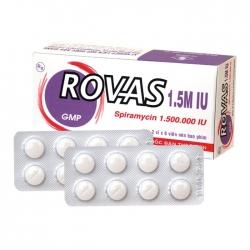 Thuốc kháng sinh DHG Rovas 1.5M Spiramycin 1.500.000 IU, Hộp 16 viên