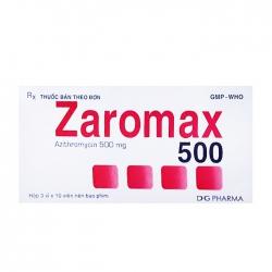 Thuốc kháng sinh DHG Zaromax 500mg, Hộp 30 viên