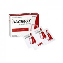 Thuốc kháng sinh Hagimox 250 - Amoxicilin 250mg, Hộp 24 gói x 1.5g