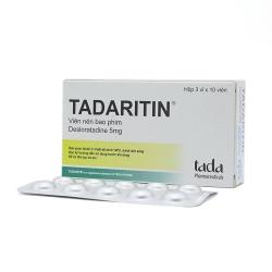 Thuốc kháng sinh HistarmineTadaritin 5mg - Desloratadine 5mg, Hộp 3 vỉ x 10 viên