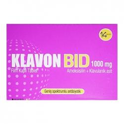 Thuốc kháng sinh Klavon Bid 1000mg 14 Viên
