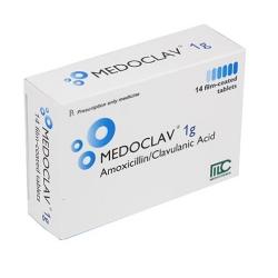 Thuốc kháng sinh Medoclav 1g - Hộp 14 viên