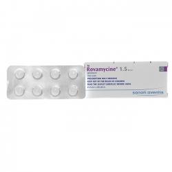 Thuốc kháng sinh Rovamycine 1.5MIU, Hộp 16 viên