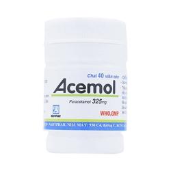 Thuốc kháng viêm Acemol - Paracetamol 325mg, Hộp 40 viên