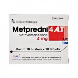 Thuốc kháng viêm An Thiên Metpredni 4 A.T, Hộp 100 viên