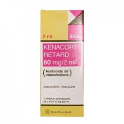 Thuốc kháng viêm Bristol-Myers Squibb Kenacort Retard 80mg/2ml, Hộp 1 lọ