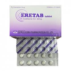 Thuốc kháng viêm Eretab 50mg, Hộp 100 viên