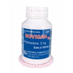 Thuốc kháng viêm Hovigan - Prednisolon 5mg