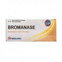 Thuốc kháng viêm Mediplantex Bromanase 50mg, Hộp 30 viên