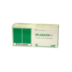 Thuốc kháng viêm Pyfloxat Ofloxacin 200 mg, Hộp 10 vi x10 viên