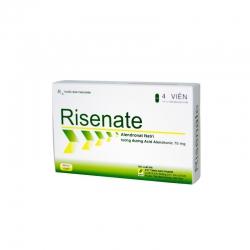 Thuốc kháng viêm Risenate - Alendronat Natri 70 mg, Hộp 1 vỉ x 4 viên