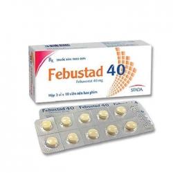 Thuốc kháng viêm Thiên An Febuxotid 40mg, Hộp 30 viên