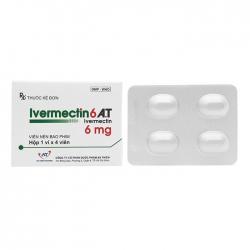 Thuốc kháng virus An Thiên Ivermectin 6 A.T 6mg 4 viên