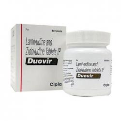 Thuốc kháng virus Cipla Duovir, Hộp 60 viên