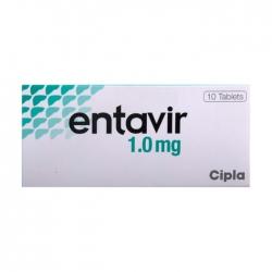 Thuốc kháng virus Cipla Entecavir 1mg, Hộp 10 viên