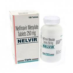 Thuốc kháng virus Cipla Nelvir Mesylate 250mg, Hộp 100 viên