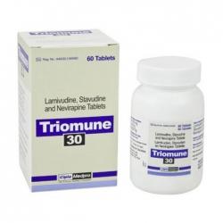 Thuốc kháng virus Cipla Triomune 30, Hộp 60 viên