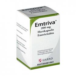 Thuốc kháng virus Gilead Emtriva 200mg, Hộp 30 viên