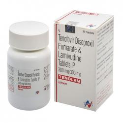 Thuốc kháng virus Hetero Tenolam, Hộp 30 viên