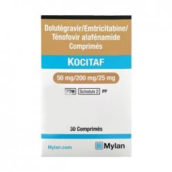 Thuốc kháng virus Mylan Kocitaf Dolutegravir Emtricitabine Tenofovir, Hộp 30 viên
