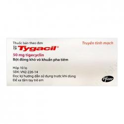 Thuốc kháng virus Tygacil 50mg, Hộp 10 lọ