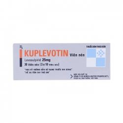Thuốc Kuplevotin 25mg, Levosulpiride 25mg, Hộp 30 viên
