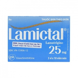 Thuốc Lamictal 25mg, Lamotrigine 25mg, Hộp 30 viên
