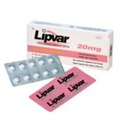 Thuốc Lipvar 20mg DHG, Hộp 30 viên